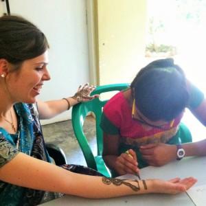 Preetha doing my henna